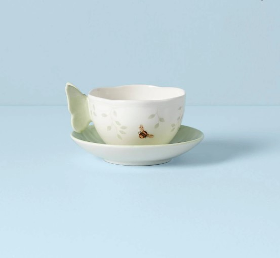 Meadow Cup and Saucer Green