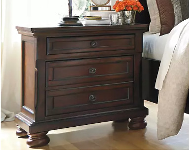 Porter Two Drawer Night Stand