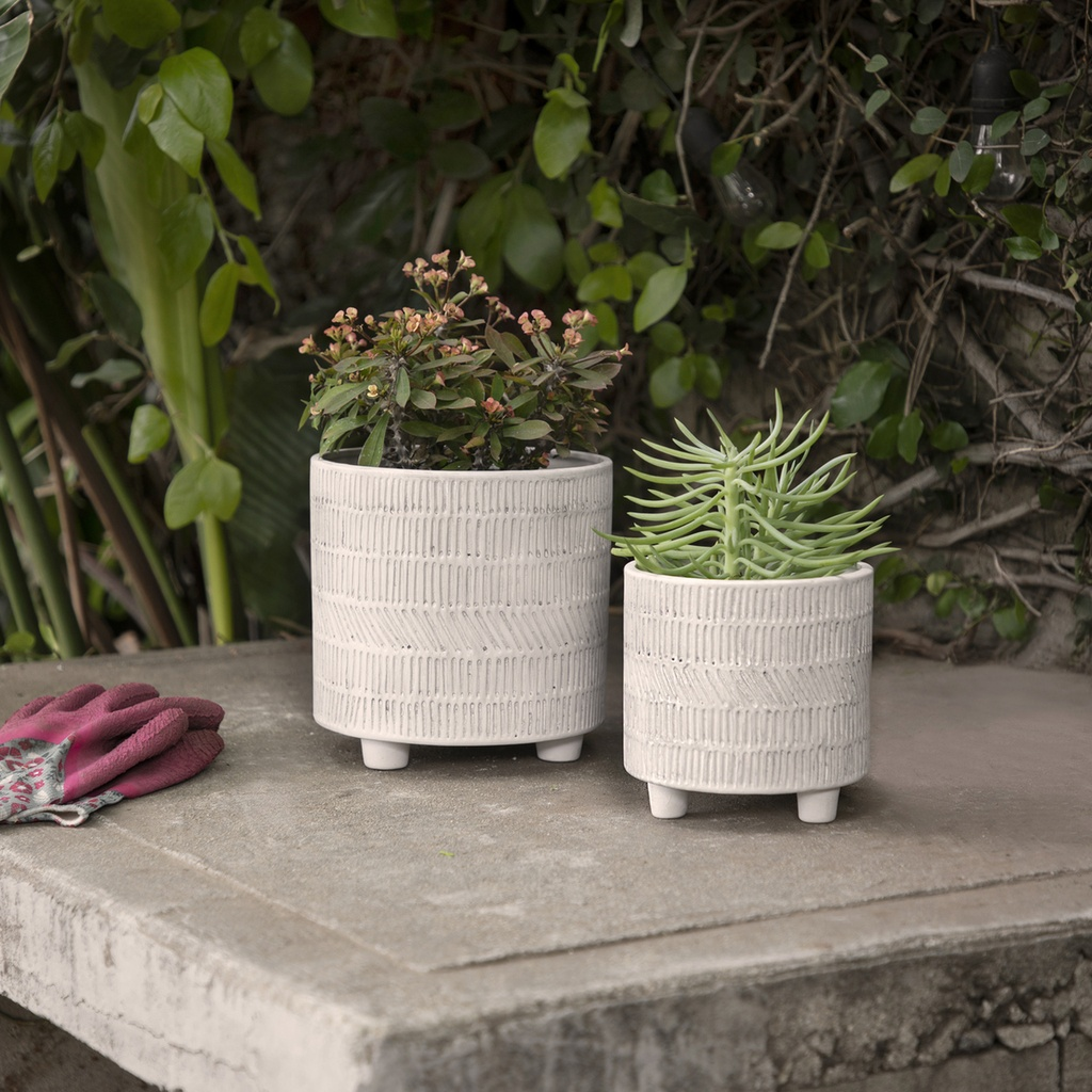 Grey Lines Planter 6in