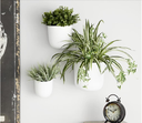 Metal Wall Planter Set White