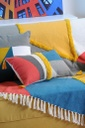 Colorblock Bolster Petrole