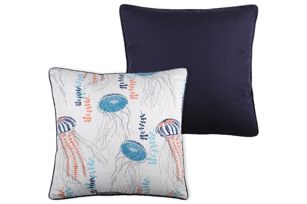 Coral Jellyfish Pillow 20in