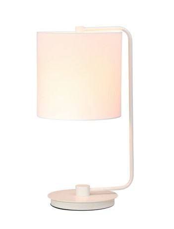 Metal Table Lamp White 21in