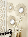 Gold Mirror Wall Décor 3pc
