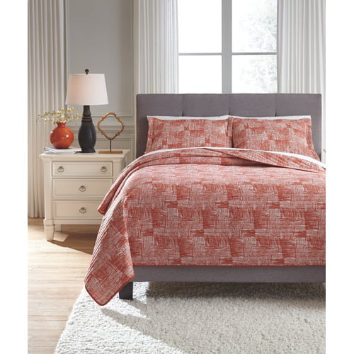 Jabesh King Quilt Set Coral