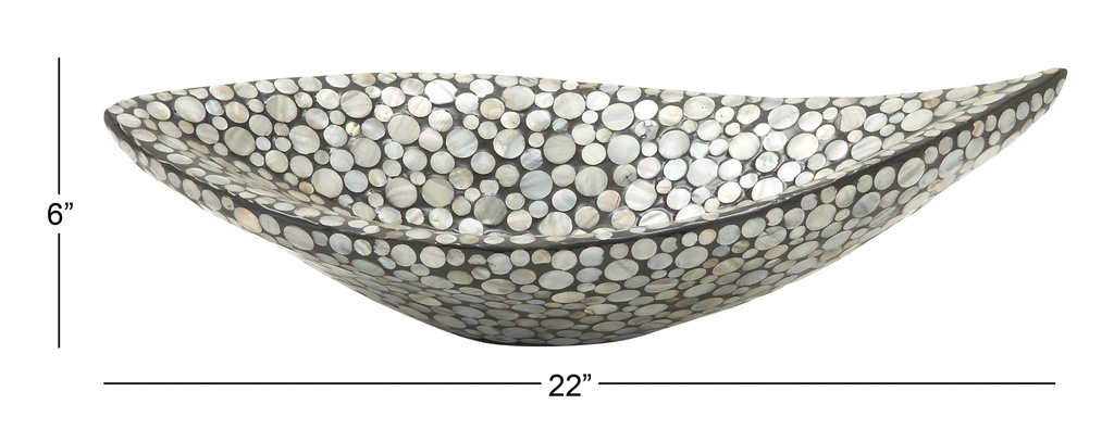 Black Shell Centerpiece Bowl 22in