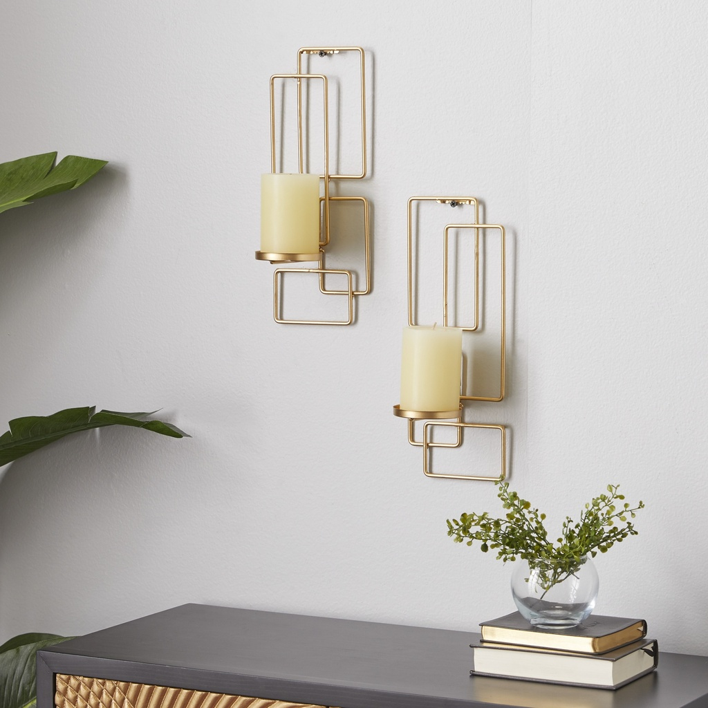 Gold Wall Sconces Set