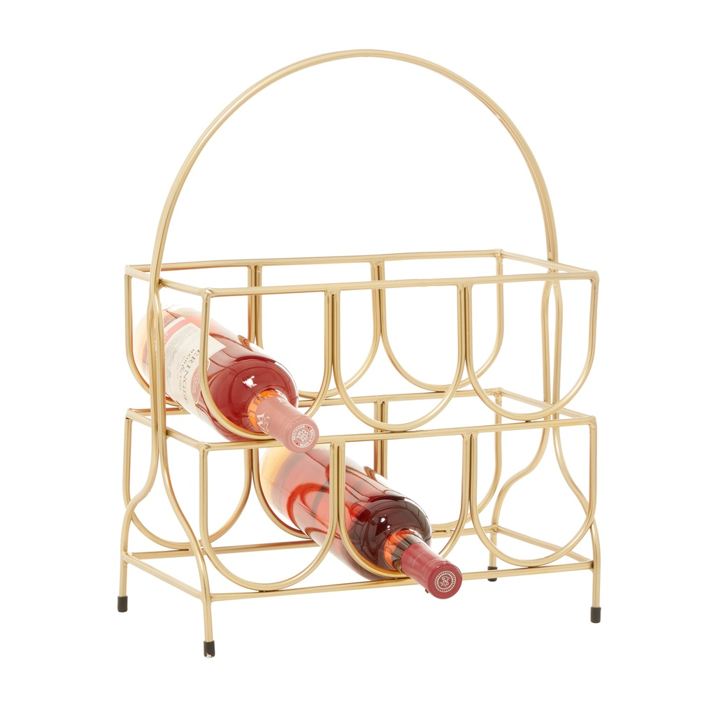 Gold Wire Wine Rack