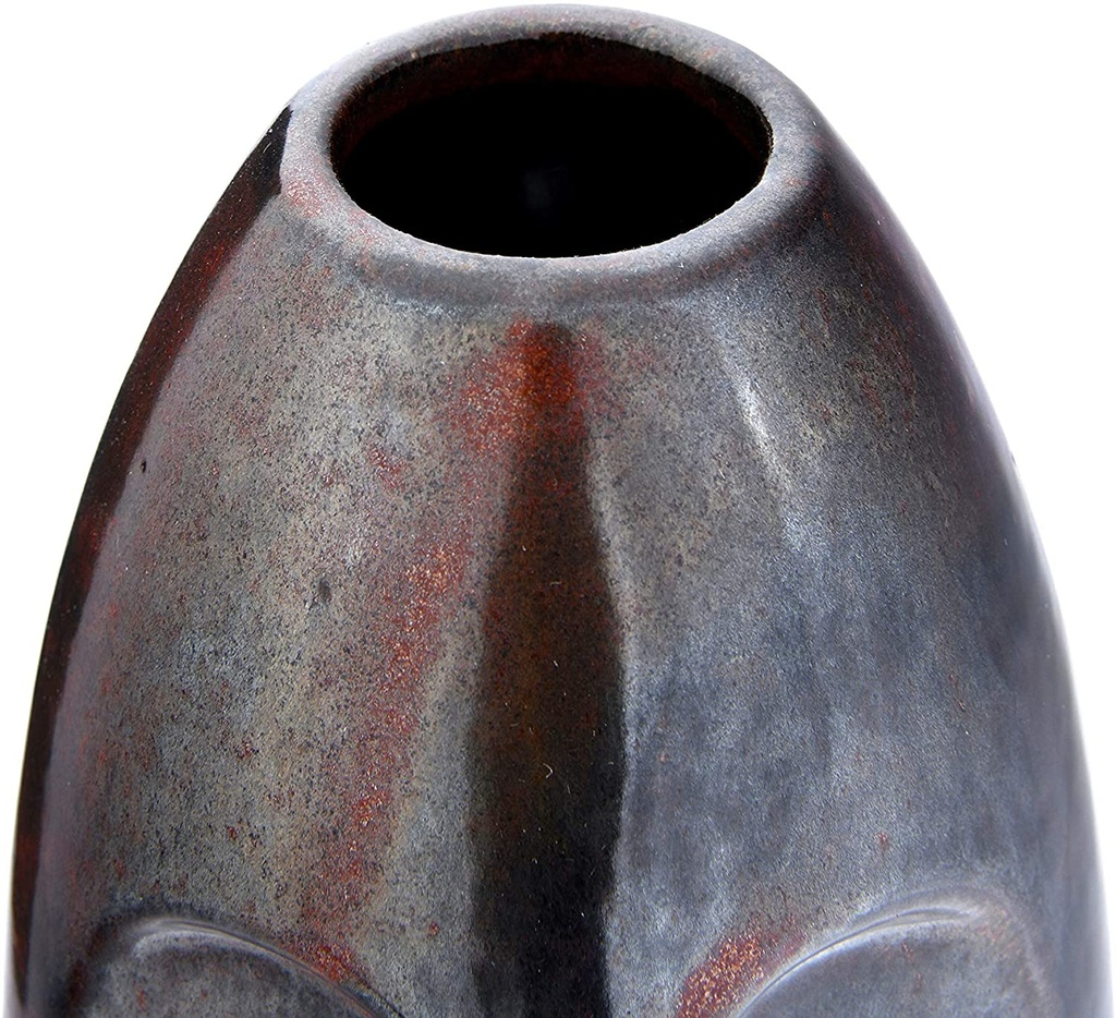 Russet Face Stoneware Vase 10in