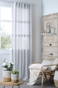 Madrid Sheer Curtain Panel Glacier 102in
