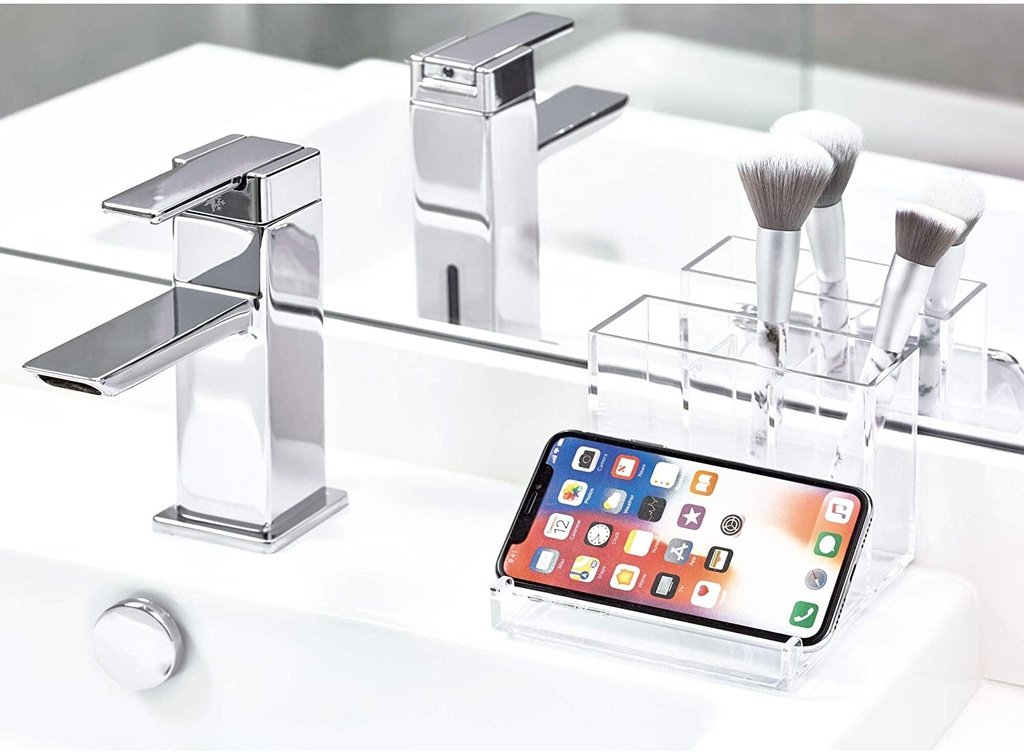 Clarity Vanity Organizer Clear/ Chrome
