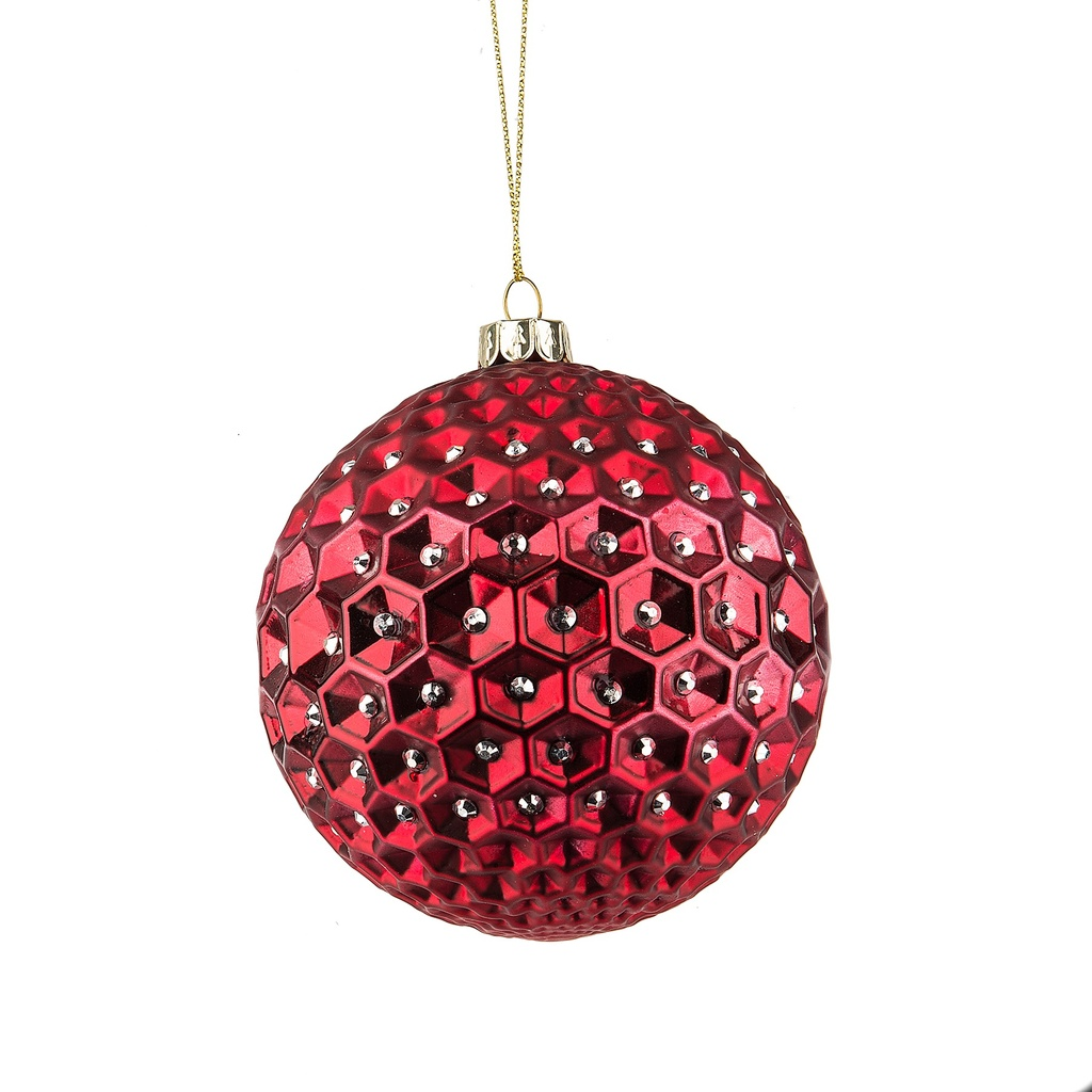 Glass Faceted Ornament
