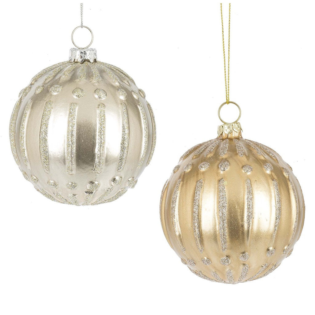 Gold & Silver Ball Ornament As