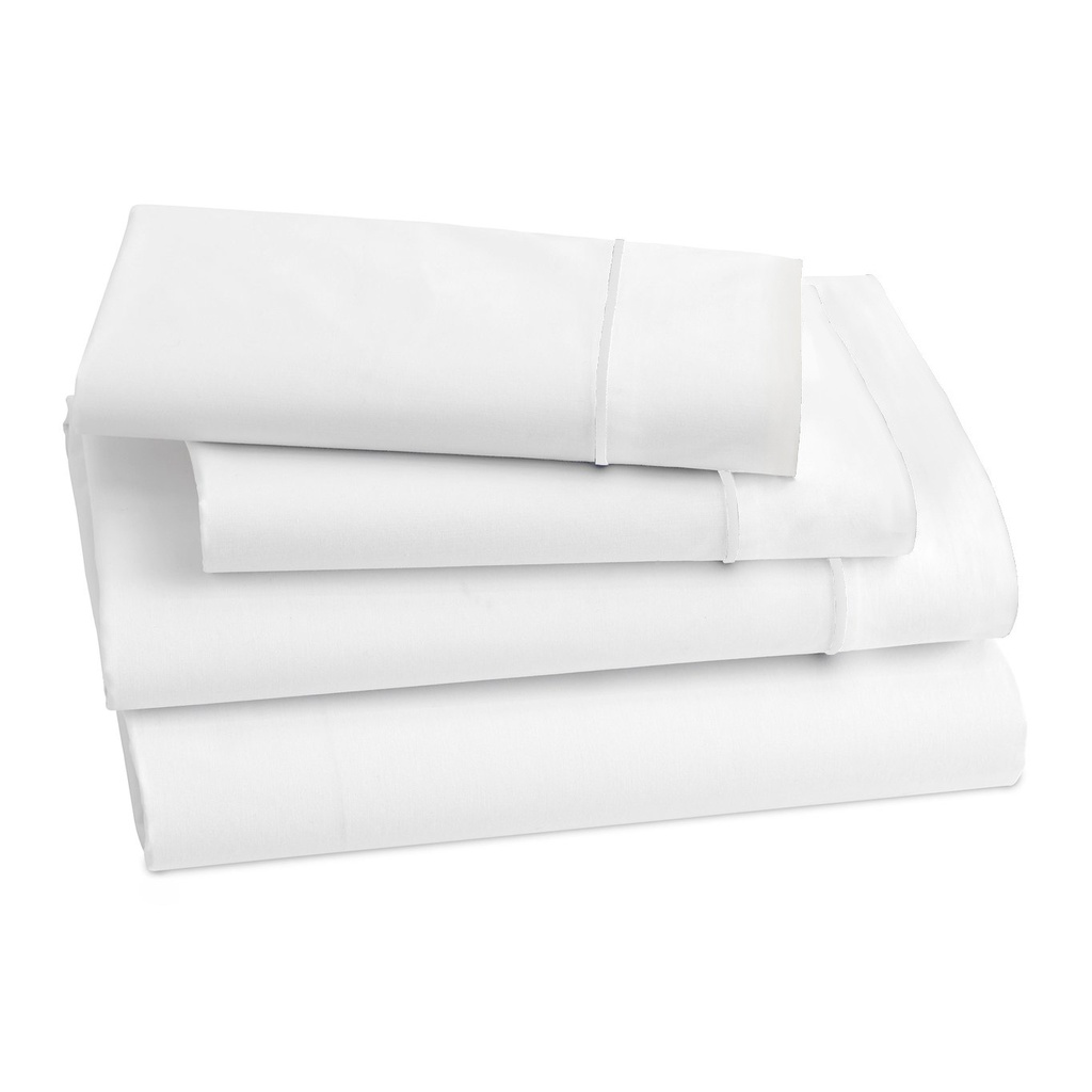 Lagos Twin Fitted Sheet White