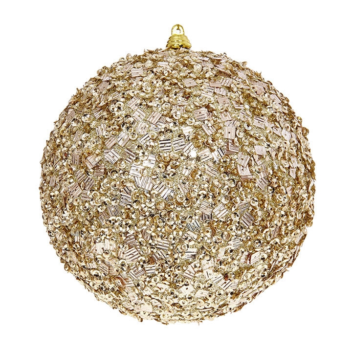 Beaded Ball Gold 6in