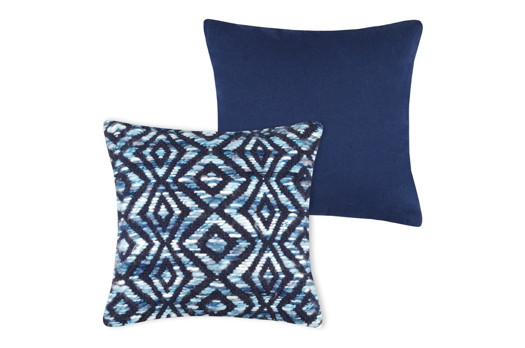 Knit Pillow Navy 16in