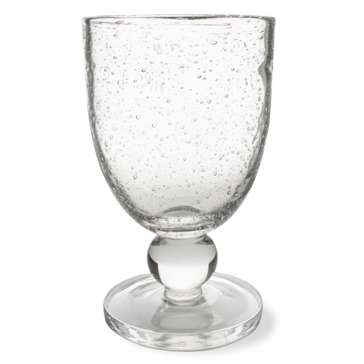 Bubble Glass Goblet Clear