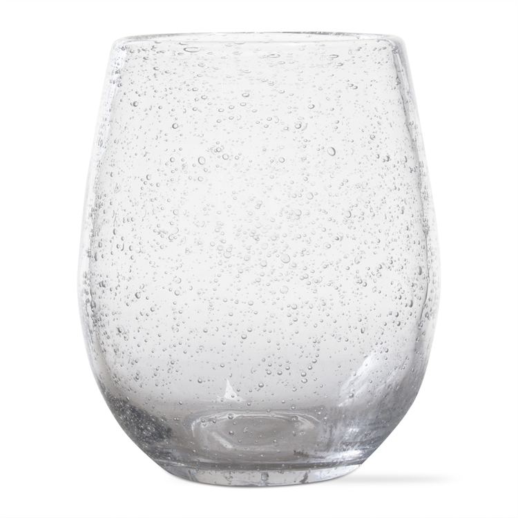 Bubble Glass Stemless Clear