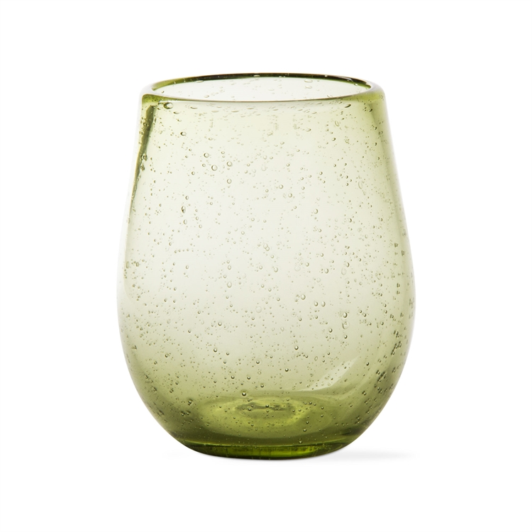 Bubble Glass Stemless Green