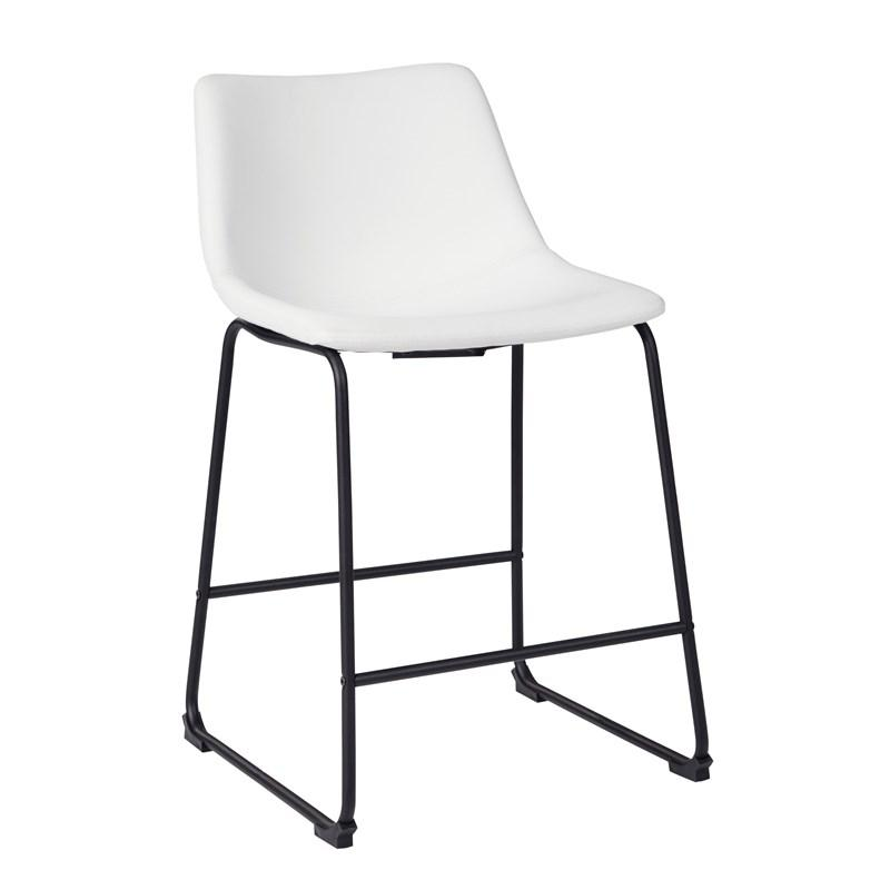 Centiar Counter Height Bar Stool White