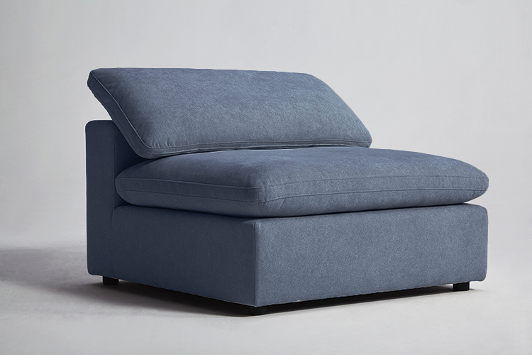 Haven Sectional Armless Steel Blue