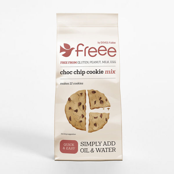 FREE by Doves Chocolate Chip Cookie Mix 350g
