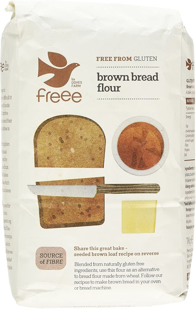 FREE by Doves Brown Bread Flour Free From Gluten 1kg