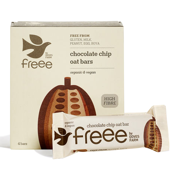 Freee by Doves Organic Chocolate Chip Oat Bars 4 x 35g