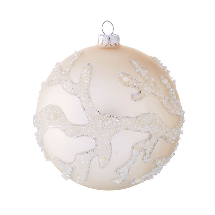 "5"" Coral Ball Ornament"