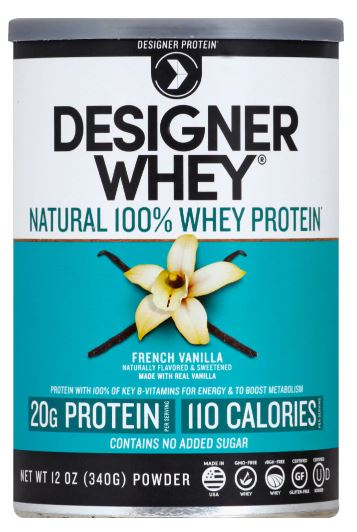 Designer Whey French Vanilla Whey Protein Powder 12oz