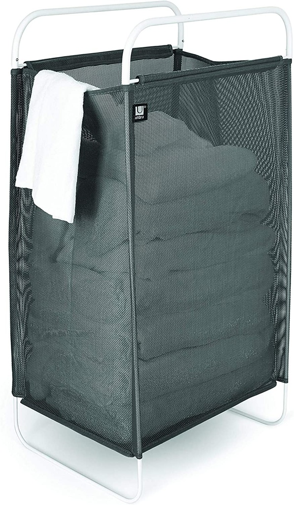 Cinch Laundry Hamper Grey & White
