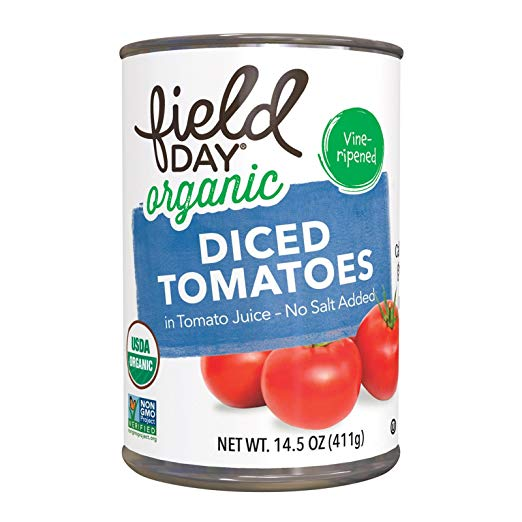 Field Day Organic Diced Tomatoes No Salt Added 14.5oz