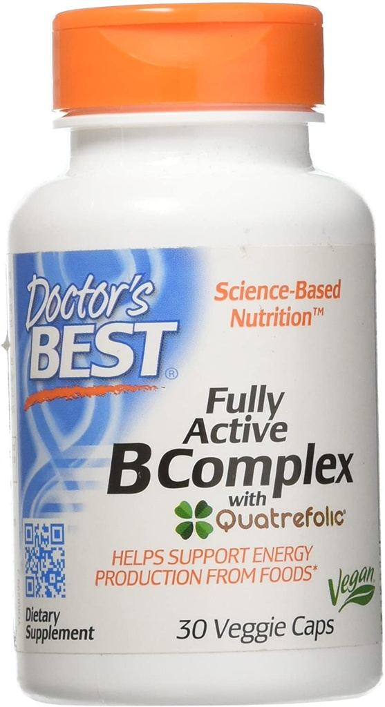 Doctor's Best B Complex Fully Active 30 Caps