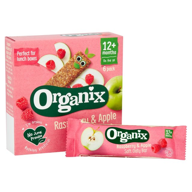 Organix Raspberry and Apple Soft Oat Snack Bars 6's