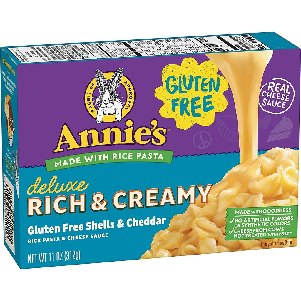Annies Deluxe Creamy Gluten Free Mac and Cheese Shells 11oz