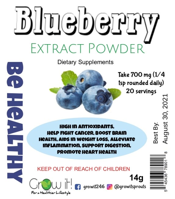 Grow It Blueberry Extract Powder