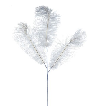 Feather Spray White 29in