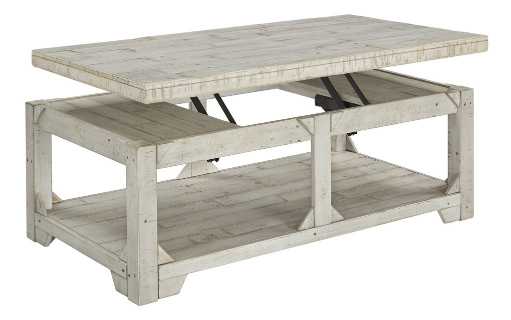 Fregine Coffee Table with Lift Top Whitewash