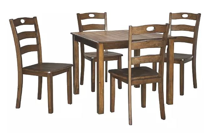 Hazelteen Dining Table and Chairs Medium Brown
