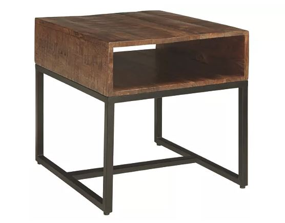 Hirvanton End Table Warm Brown
