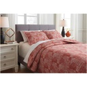 Jabesh 3-Piece King Quilt Set Orange
