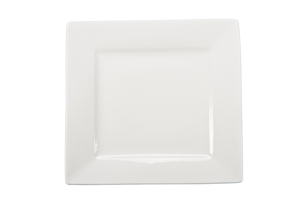 White Square Plate 10in