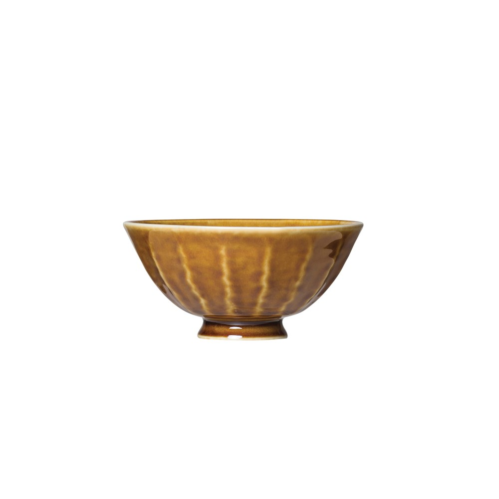 Brown Textured Bowl 5in