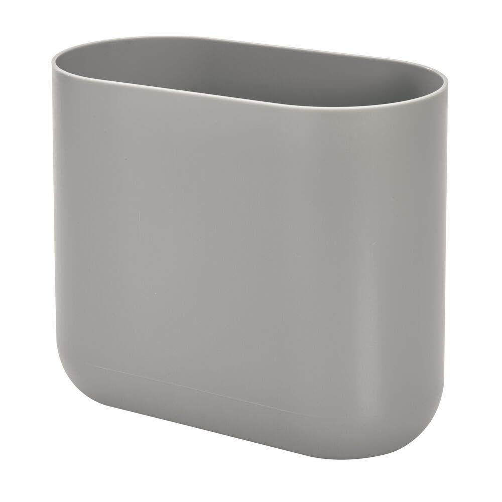 Cade Slim Waste Can Gray