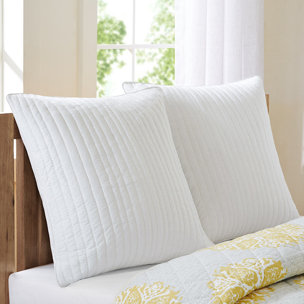 Camila Quilted Euro Sham Wh