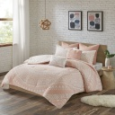[503375-BB] Larisa Comforter Set Queen Blush