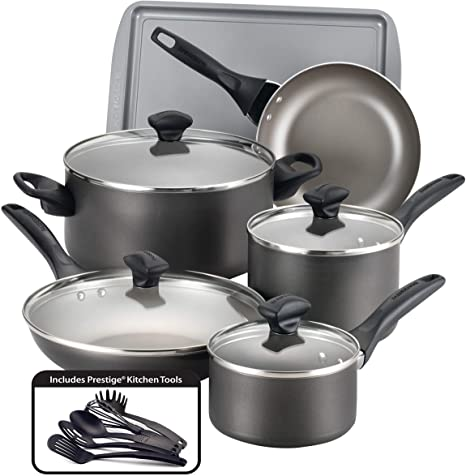 [304638-BB] Farberware Cookware 15pc Pew
