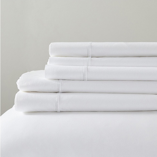 [150683-BB] Lagos King Duvet Cover White