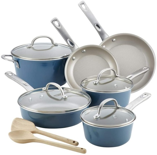 [159303-BB] Ayesha Curry 12pc Set Blue
