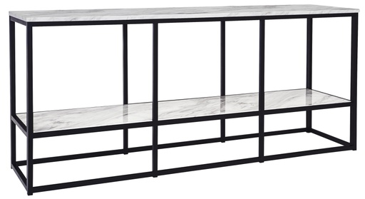 "[503694-BB] Donnesta 65"" TV Stand Gray/Black"